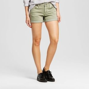New Mossimo Green Mid Rise Casual Shorts